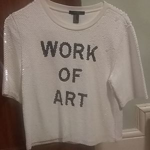 "Forever 21 ""Work of Art"" Sequined Top"